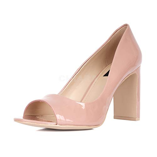 DKNY Frauen Jade Peep Toe Leder Klassische Pumps Pink Groesse 7.5 US /38.5 EU