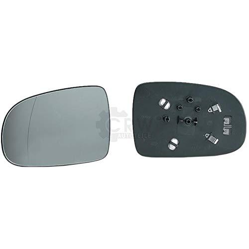 Spiegelglas + Haltefuss Rechts für CORSA C (F08 F68) konvex beheizbar