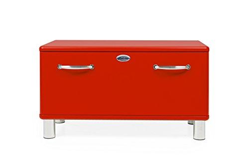 Tenzo MALIBU Designer Garderobenbank 1 Schublade, MDF und Spanplatte, Lackiert, Rot,
