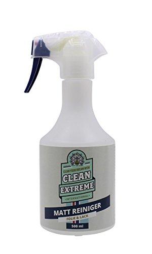CLEANEXTREME Auto Mattlack-Reiniger 500 ml - Spray zum intensiven Reinigen von Mattlack (Autolack matt), Matt-Folie und Matter Autosprühfolie. Waschen ohne Wasser