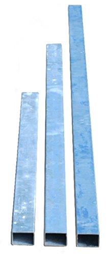 GABIONA ZAUNPFOSTEN Pfosten Kippsicherung Gabione Vierkantrohr 40x60mm feuerverzinkt (100 cm)