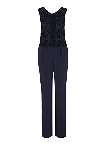 s.Oliver BLACK LABEL Damen Jumpsuit, Blau (Dark Ocean) - 4