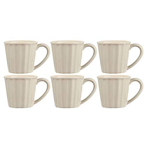 CREAFLOR HOME 6er Set Tassen Becher MYNTE Butter Cream für 250ml cremeweiß Steingut Ib Laursen