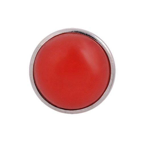 ANDANTE Glas Chunk Click-Button Druckknopf (Rubin-Rot) für Chunk-Armbänder, Chunk-Ringe und andere Chunk-Accessoires