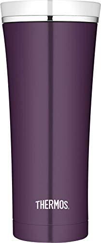 THERMOS Thermobecher Premium, Kaffeebecher to go Edelstahl violett 470ml, Isolierbecher spülmaschinenfest, dicht, 4004.249.047, Coffee to Go 5 Stunden heiß, 9 Stunden kalt, BPA-Free