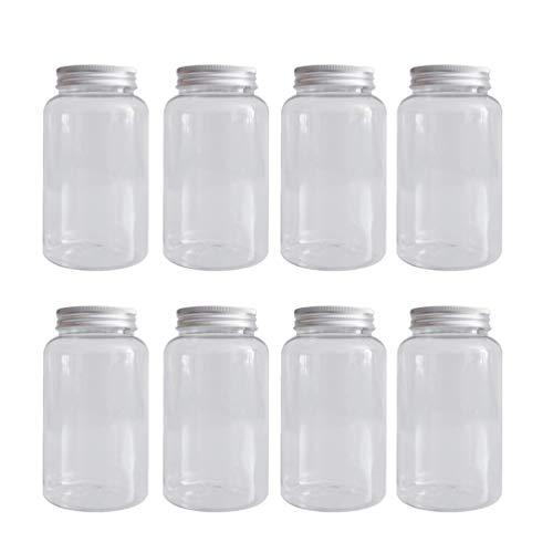 Hemoton 10 Stuks Doorzichtige Plastic Bekers Met Deksel Doorzichtige Plastic Wegwerp Bekers Koffie Thee Sap Smoothie Bekers Drinkfles Metselaar Pot (Transparant)