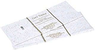 Gift Wrap Bag Tissue Paper White Foil Sequin Sparkle 20 Sheets 20 x 20 Inches