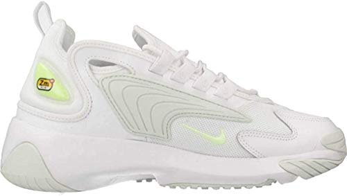 Nike WMNS Zoom 2k, Chaussures de Trail Femme, Multicolore (White/Barely Volt-Ghost Aqua 104), 39 EU