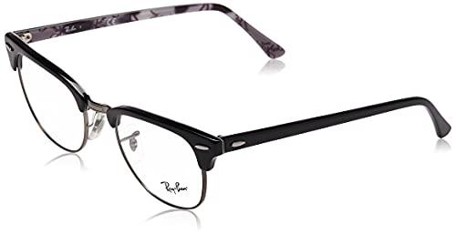 online glasses retailers Ray-Ban RX5154 Clubmaster Square Prescription Eyeglass Frames