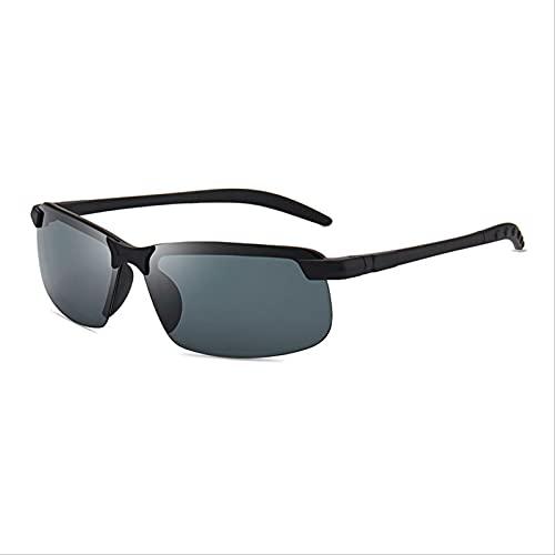 YUEXINHU Gafas Polarizadas Para Hombres, Gafas De Sol, Gafas De Sol, Diurnas Y Nocturnas, Gafas De Conductor, Pesca Con Visión Nocturna, Anti-uva Y Rayos Uvb. Película gris