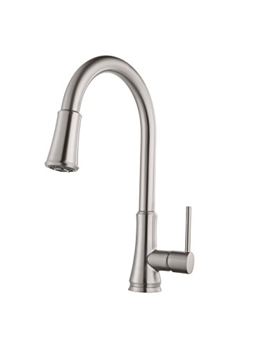 Pfister G529-PF1S Pfirst Series Stainless Steel 1-Handle High-arc Kitchen Faucet