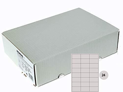 Kores Universal-Etiketten, 70 x 37 mm Großpackung, 500 Blatt, weiß, E7037.500, weiss, 70,0 x 37,0mm