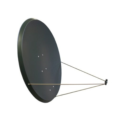 PremiumX Antenne PXA125 Aluminium 125 cm, Digital Sat Schüssel Spiegel ALU in Anthrazit FULLHD HDTV 3D Tauglich NEU