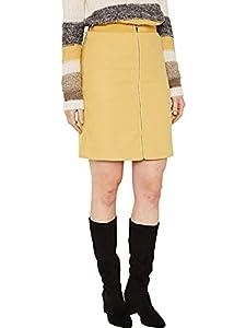ESPRIT Damen 129Ee1D009 Rock, Gelb (Yellow 750), (Herstellergröße: 40)