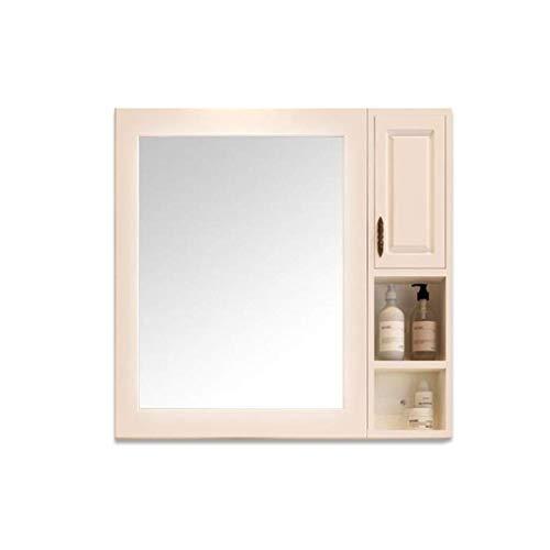 MJK Wandspiegel, Spiegelschränke Spiegelspiegelschrank Badezimmerschublade Aufbewahrungsschrank Schrank Aufbewahrungsbox Wandbehang Spiegelschrank Schrank,Weiß,75 * 12 * 80cm