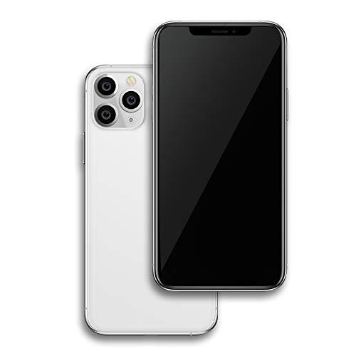 Fufone Metálico Dummy Pantalla falsa Modelo de Teléfono Escala 1: 1 Réplica de Reforma Teléfono para Phone X IX 5.8 pulgadas (11ProMAX Plata Pantalla Negro)
