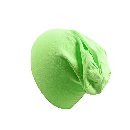ZZKHSM Enfants Chapeau Bonbons Bonbons Couleurs Solides Garçons Filles Bébé Chapeaux Coton Né Bébé Chapeau Tout-Petit Infantile Casquettes Green