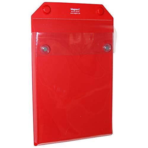 Magnettasche XXL – ideal zur Dokumentenaufbewahrung – Rot – DIN A4 (hoch) – von Magna C