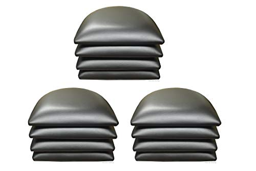12 PCS Black Vinyl Cushions OR SEAT PAD for Wood Chairs & BAR STOOLS in Restaurants and Home (12, Black)