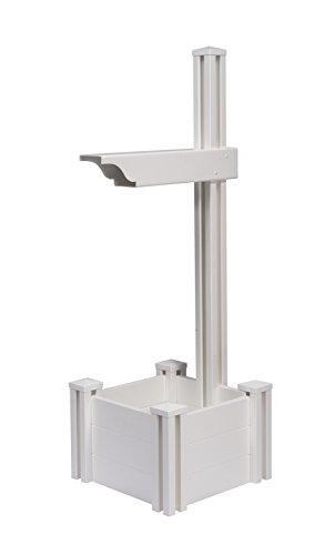 Zippity Outdoor Products ZP19027 Majestic Mailbox Post, White