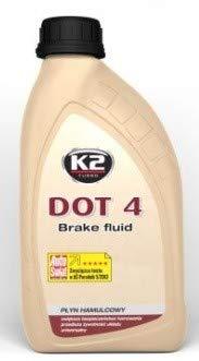 K2 DOT 4 Bremsflüssigkeit, mit folgenden Normen: FMVSS 116 DOT 4, SAE J 1703, vollsynthetisch, mischbar mit DOT 3 und DOT 4, 0,5 kg (ca0,5 l)