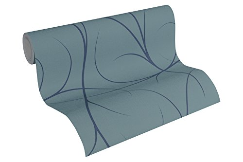 Lars Contzen Vliestapete Artist Edition No. 1 Tapete Elegance in Greenhouse Designertapete 10,05 m x 0,53 m blau Made in Germany 342154 34215-4