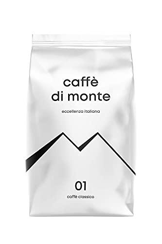 Caffè di Monte Classico, 1kg, ganze Bohne, mitteldunkle Röstung nach italienischer Art, schokoladig & nussig, säurearm, ideal für Kaffee aus Siebträger, Vollautomaten oder als Filterkaffee