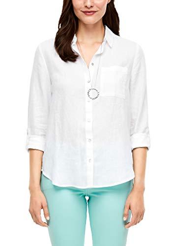 s.Oliver RED Label Damen Bluse aus Leinen White 42