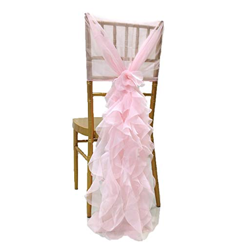 Special Bridal Two Piece Ruffle Chair Cover for Wedding Party Banquet Chair Sashes Wedding Decoration