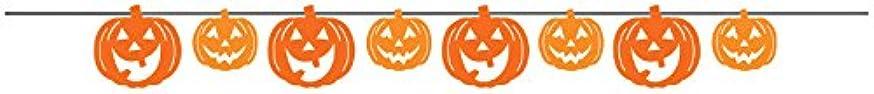 Creative Converting Pumpkin Faces Ribbon Banner, Orange