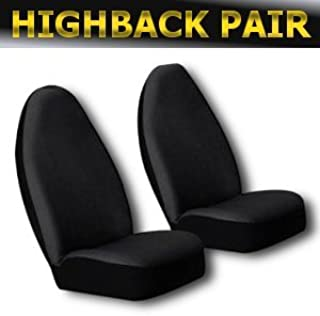 Unique Imports Classic Premium Bucket Cloth Car Truck Auto Seat Covers Black Color