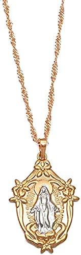 YOUZYHG co.,ltd Virgin Necklaces for Women Girls Pendant Catholic Church Jewelry Catholic Ornaments 45cm