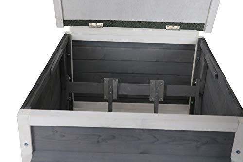 Rasenroboter-Garage, Rasenmäher Haus für selbstfahrende Rasenmähroboter, Holz grau-weiß - 2