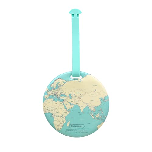 ラゲッジ ネーム スーツケース タグ トラベル 旅行 用品 紛失防止 小物 雑貨 かわいい おしゃれ レディース メンズ シンプル お揃い 韓国 マップ デザイン(4)