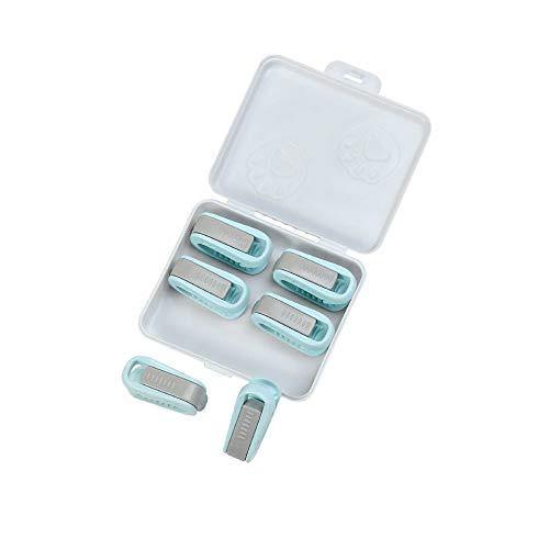 LBWNB 12PCS Anti-Moskito-Quilthalter Blatthalter 5,5 * 3 * 2 cm/blau