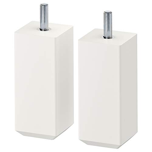 IKEA Stubbarp Beine, Weiß, 2 Stück, 102.935.64