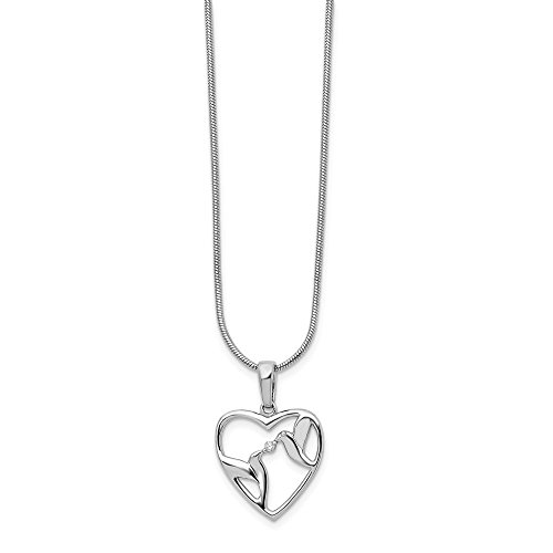 925 Sterling Silver Diamond Bird Heart Chain Necklace Pendant Charm Love Fine Jewelry For Women Gifts For Her