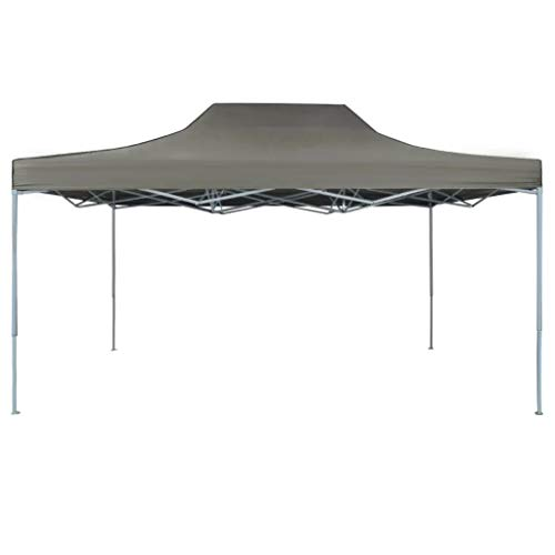 Cikonielf Folding Party Gazebo 4.5 x 3M UV and Water Resistant Garden Pavilion Pop-Up Party Tent for Garden Anthracite
