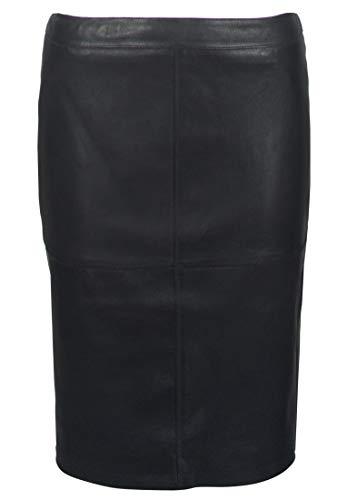 Gipsy Falda de piel para mujer Swant LNS con cremallera Negro L