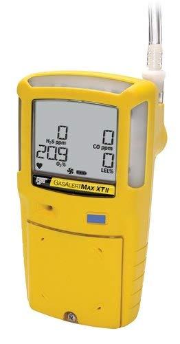 Honeywell Max XT II Multi-Gasdetektor mit Pumpe (H2S-Bereich: 0-200 ppm, CO-Bereich: 0-1000 ppm, O2-Bereich: 0-30,0%, UEG: 0-100%) Zusammen mit dem Kalibrierungszertifikat von INSTRUKART