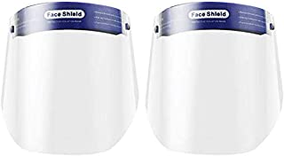 GZZX Adjustable Face Shield Protect PVC Eyes and Face, Clear Open Face Shield Film Elastic Band and Comfort Sponge (2 PCS)