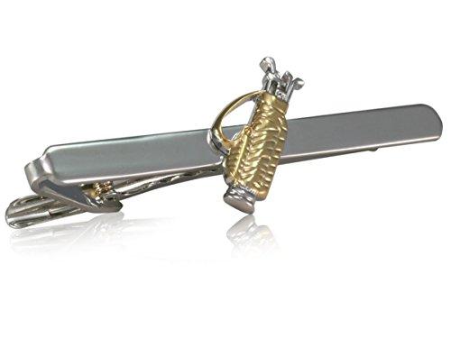 Teroon Krawattenklammer/Krawattennadel versilbert Golf Cartbag