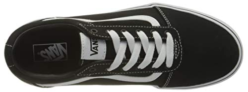 Vans Ward Platform, Zapatillas Mujer, Canvas Black/White, 37 EU