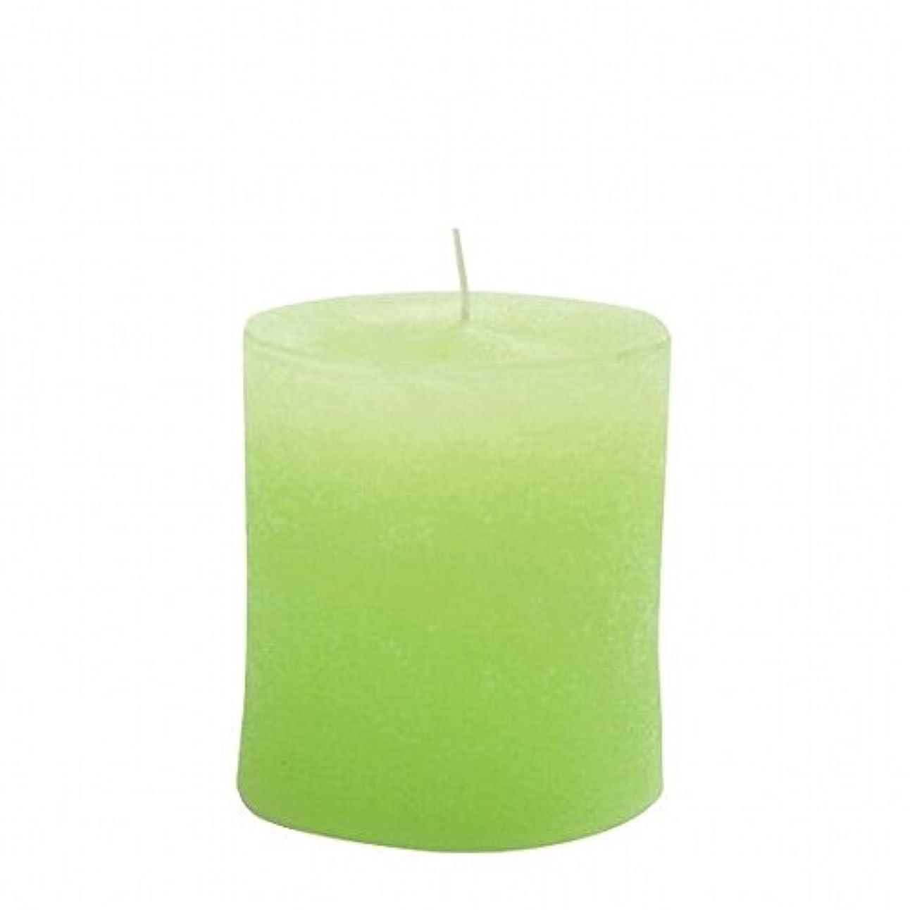 乳白色キロメートル上回るkameyama candle(カメヤマキャンドル) ラスティクピラー70×75 「 ライトグリーン 」(A4930010LG)