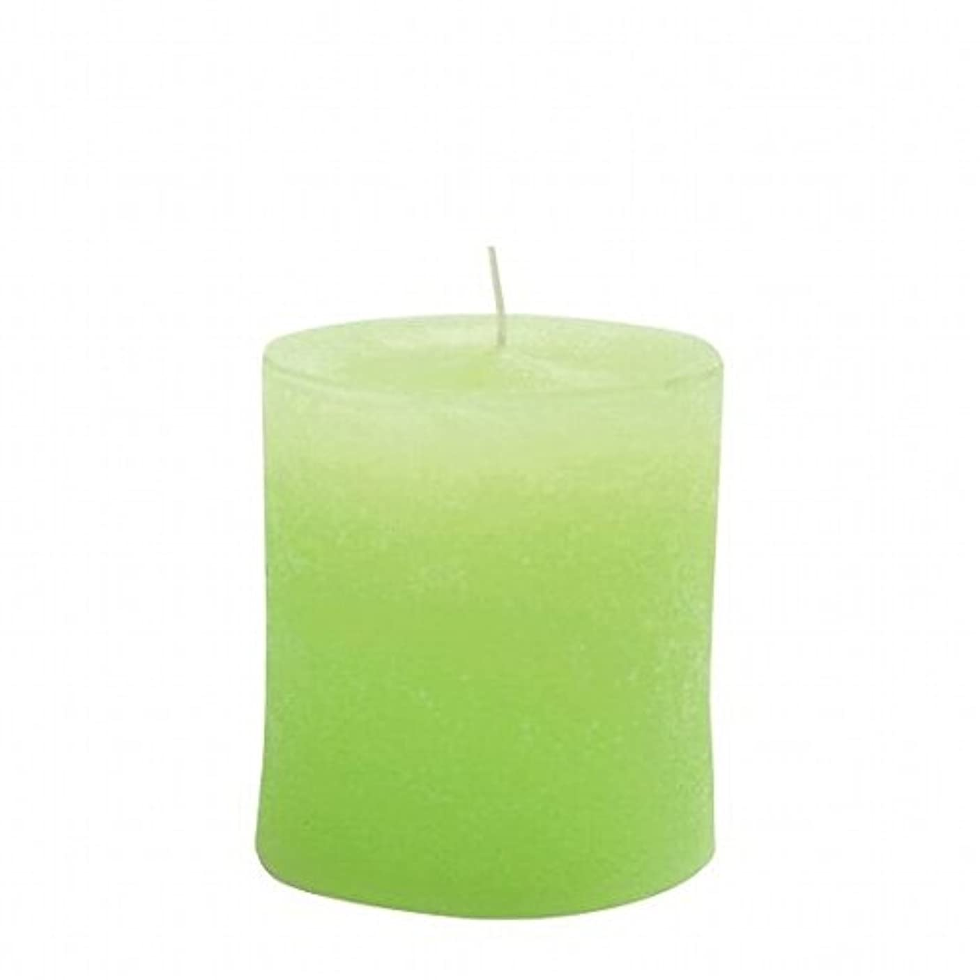 家預言者パプアニューギニアkameyama candle(カメヤマキャンドル) ラスティクピラー70×75 「 ライトグリーン 」(A4930010LG)