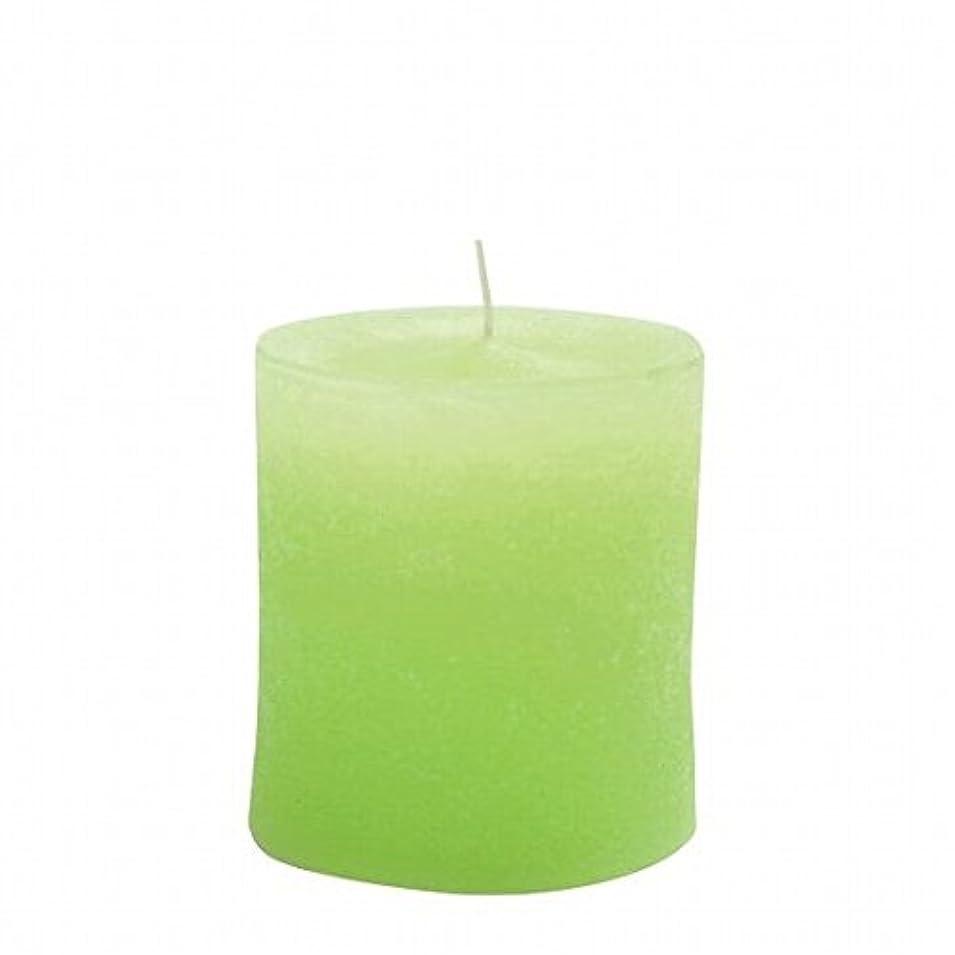 中蒸留する水星kameyama candle(カメヤマキャンドル) ラスティクピラー70×75 「 ライトグリーン 」(A4930010LG)