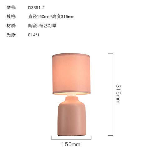 Lampas nachtlampje studiolamp tafellamp modern persoonlijkheid minimalistische Nordic camera voor tweepersoonsbed nachtkastje @ pot roze