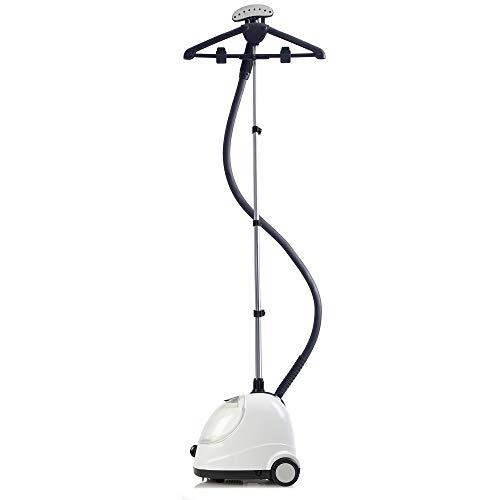 Fridja f1000 Professional Vertikales Kleidungsstück/Steamer Ideal für Anzüge und zarte Materialien einschließlich Hochzeitskleider - Aktualisiertes Modell (Weiß Professioneller Dampfer) - Weiß