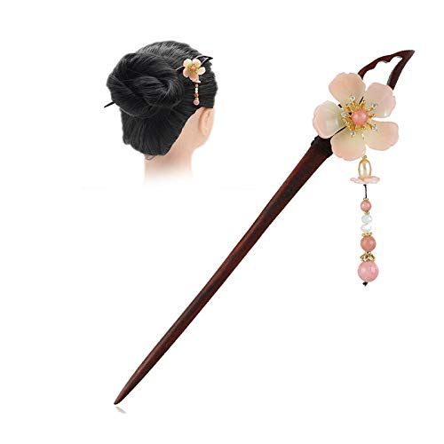 Handmade Carved Wooden Hair Sticks for Women Long Thick Hair Buns Decorative - Vintage Chinese Elegant Hair Clasp Chopsticks Hairstyle Hairpin Hair St