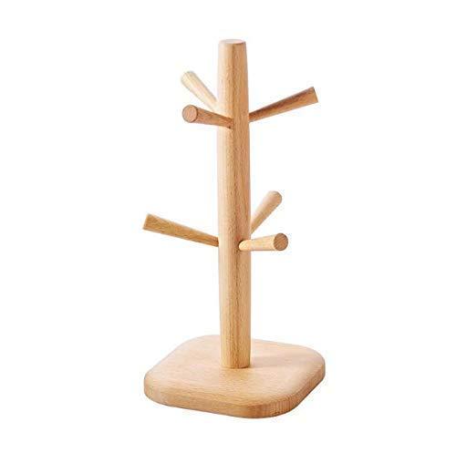 Gwill 6 crochets en bois style bambou arbre tasses et porte-gobelets Party Bar tasse / tasse de café / eau tasses séchage support de stockage présentoir, cuisine à domicile recueillir organisateur